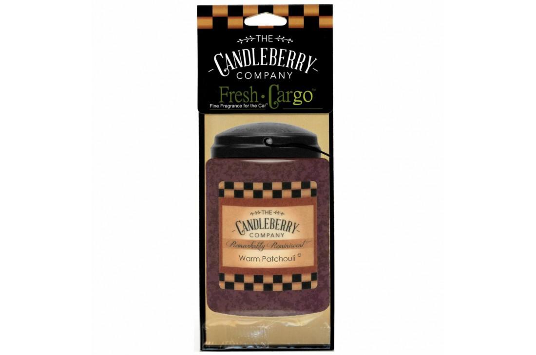Candleberry Warm Patchouli Zapach do samochodu ZAWIESZKA