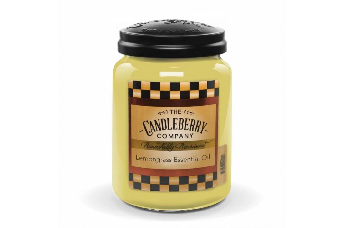 Candleberry Lemongrass Essential Oil Świeca zapachowa DUŻA