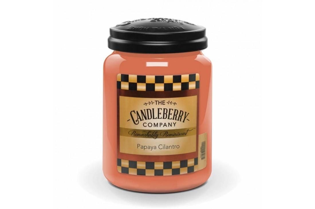 Candleberry Papaya Cilantro Świeca zapachowa DUŻA