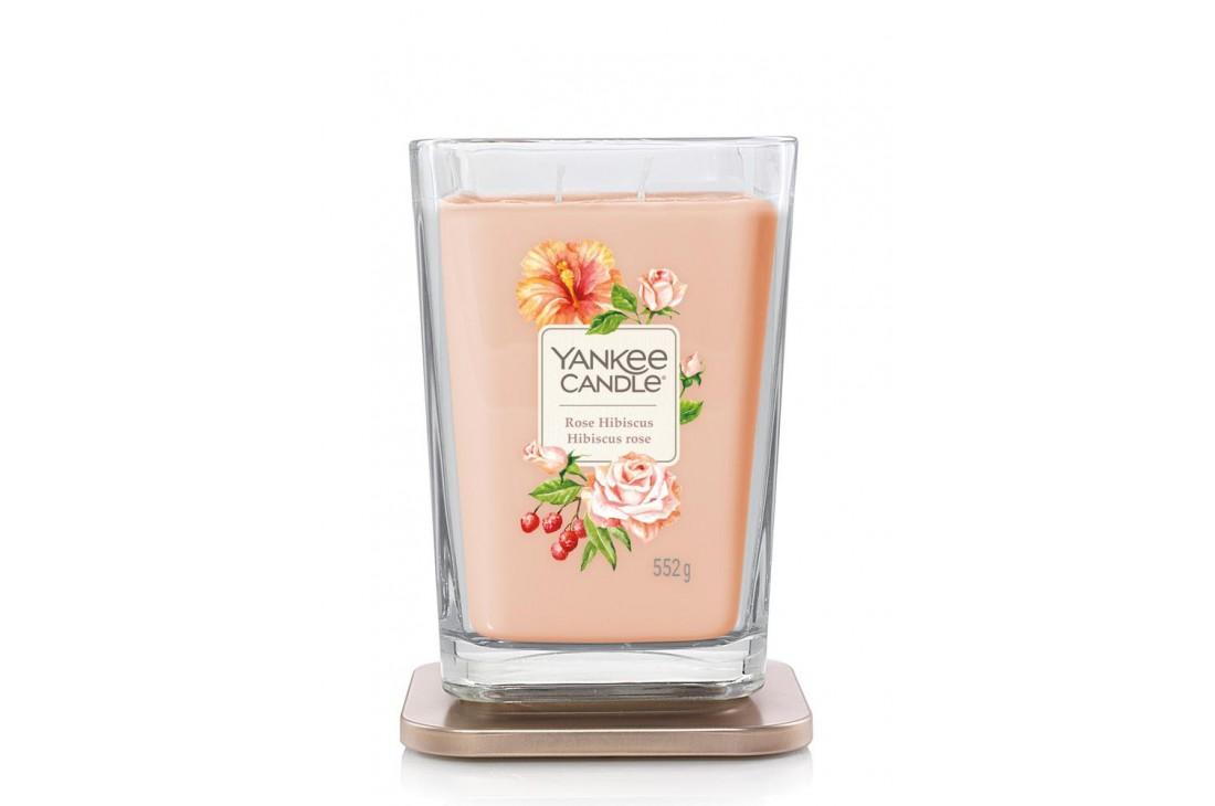 Yankee Candle Rose Hibiscus Świeca Zapachowa Duża ELEVATION