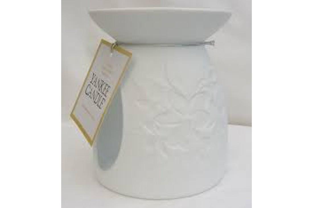 Yankee Candle kominek zapachowy biały (Motyw kwiatowy)