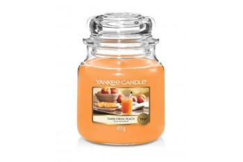 Yankee Candle Farm Fresh Peach Świeca zapachowa ŚREDNIA