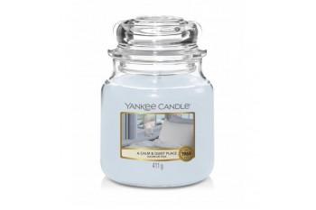 Yankee Candle A Calm & Quiet Place Świeca zapachowa ŚREDNIA
