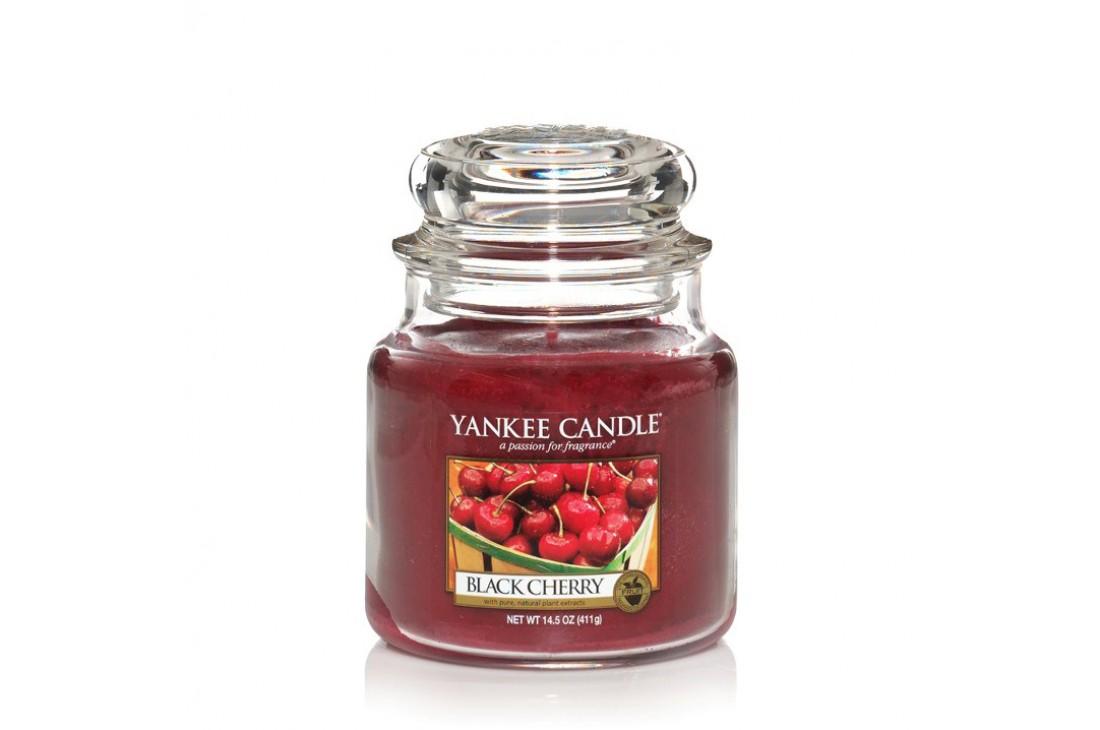 Yankee Candle Black Cherry Świeca zapachowa ŚREDNIA