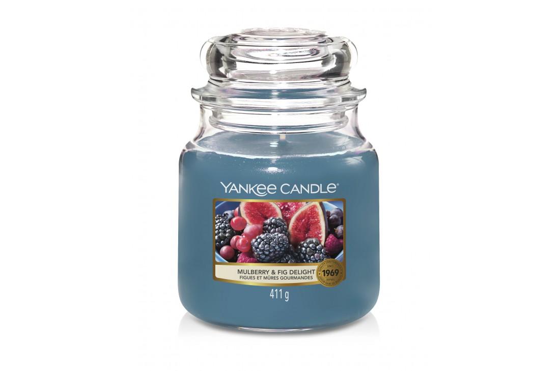 Yankee Candle Mulberry & Fig Delight Świeca zapachowa ŚREDNIA