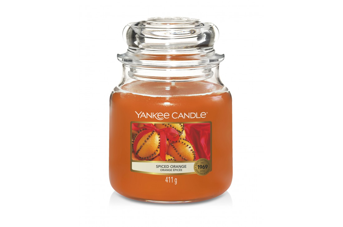 Yankee Candle Spiced Orange Świeca zapachowa ŚREDNIA