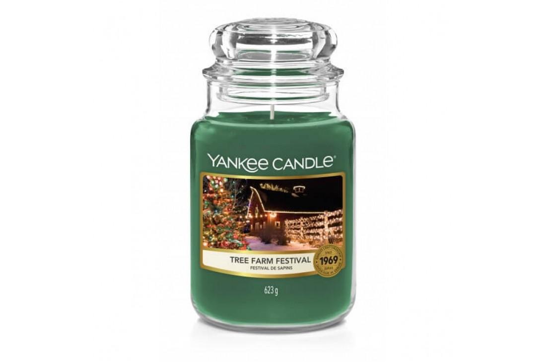 Yankee Candle Tree Farm Festival Świeca zapachowa DUŻA