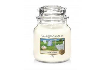 Yankee Candle Clean Cotton Świeca zapachowa ŚREDNIA