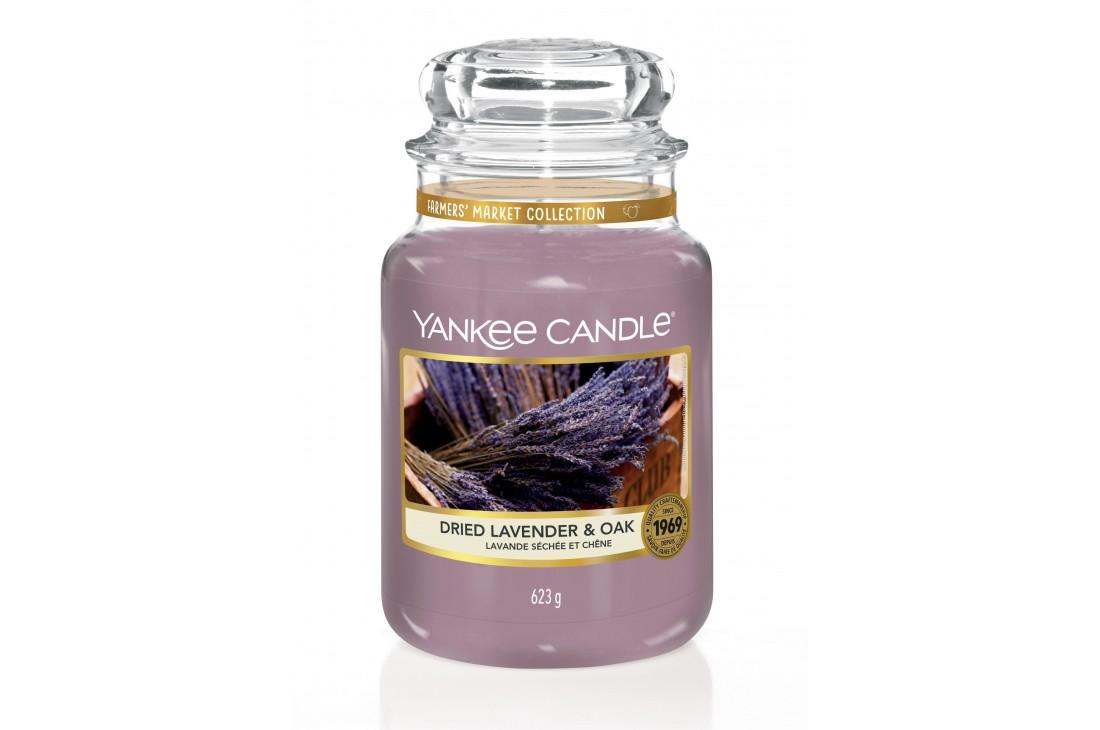 Yankee Candle Dried Lavender & Oak Świeca zapachowa DUŻA