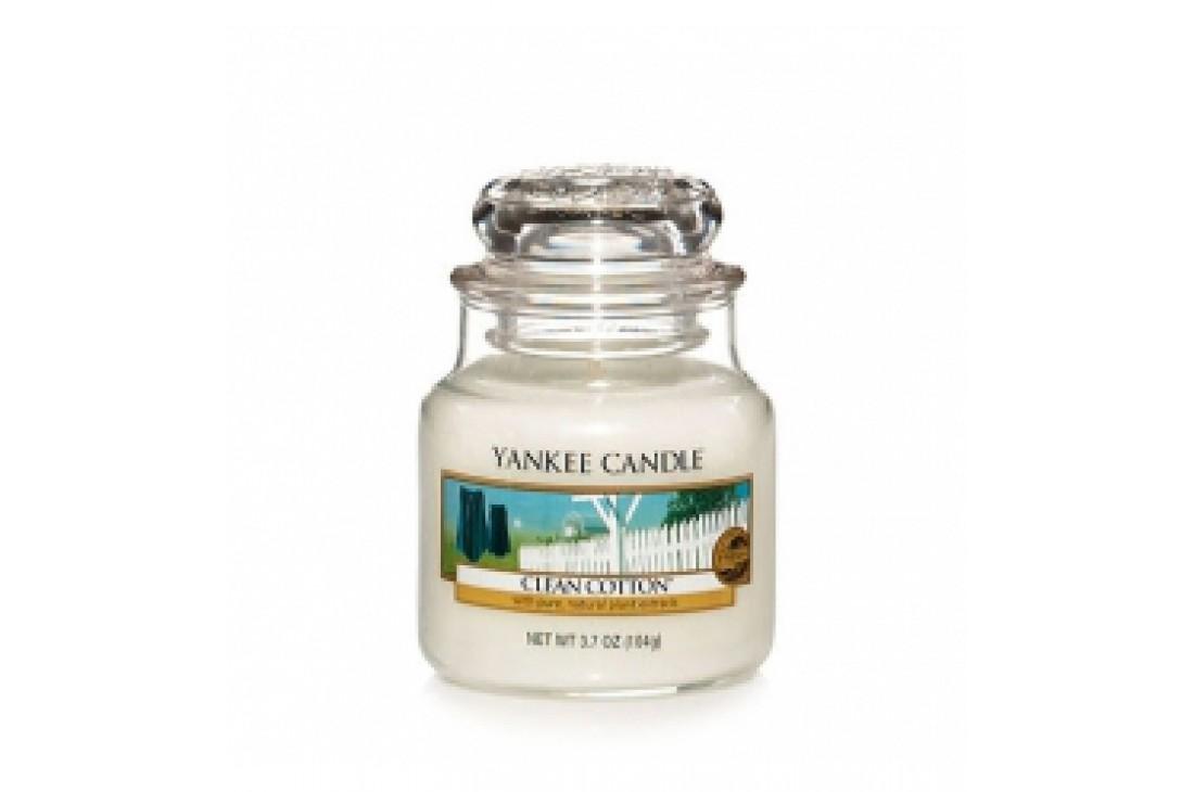 Yankee Candle Clean Cotton Świeca zapachowa MAŁA