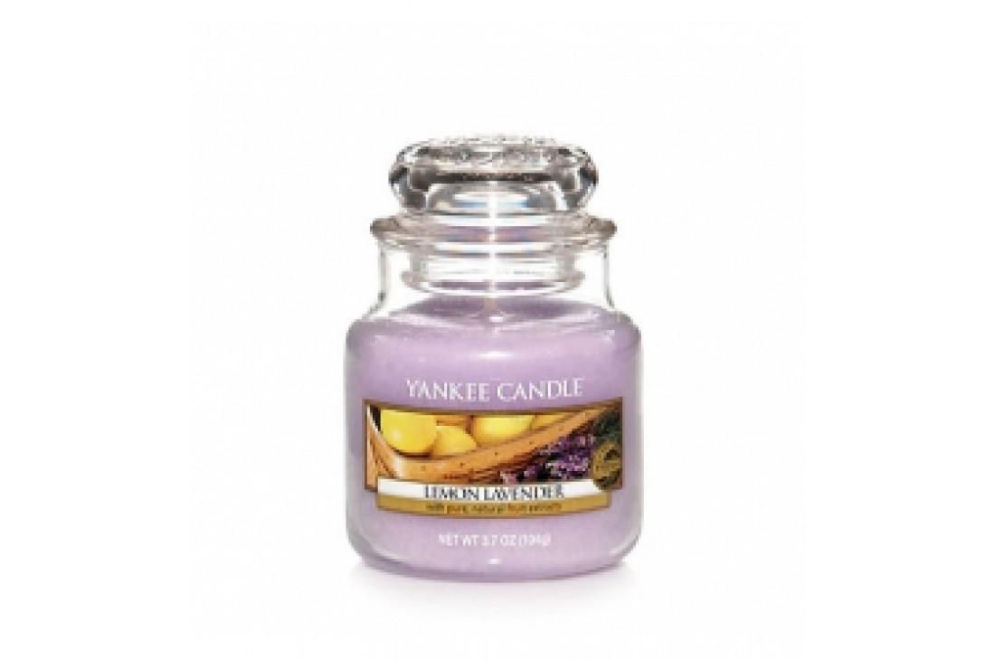 Yankee Candle Lemon Lavender Świeca zapachowa MAŁA