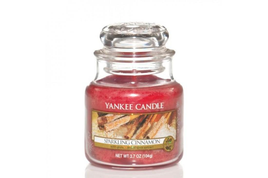 Yankee Candle Sparkling Cinnamon Świeca zapachowa MAŁA