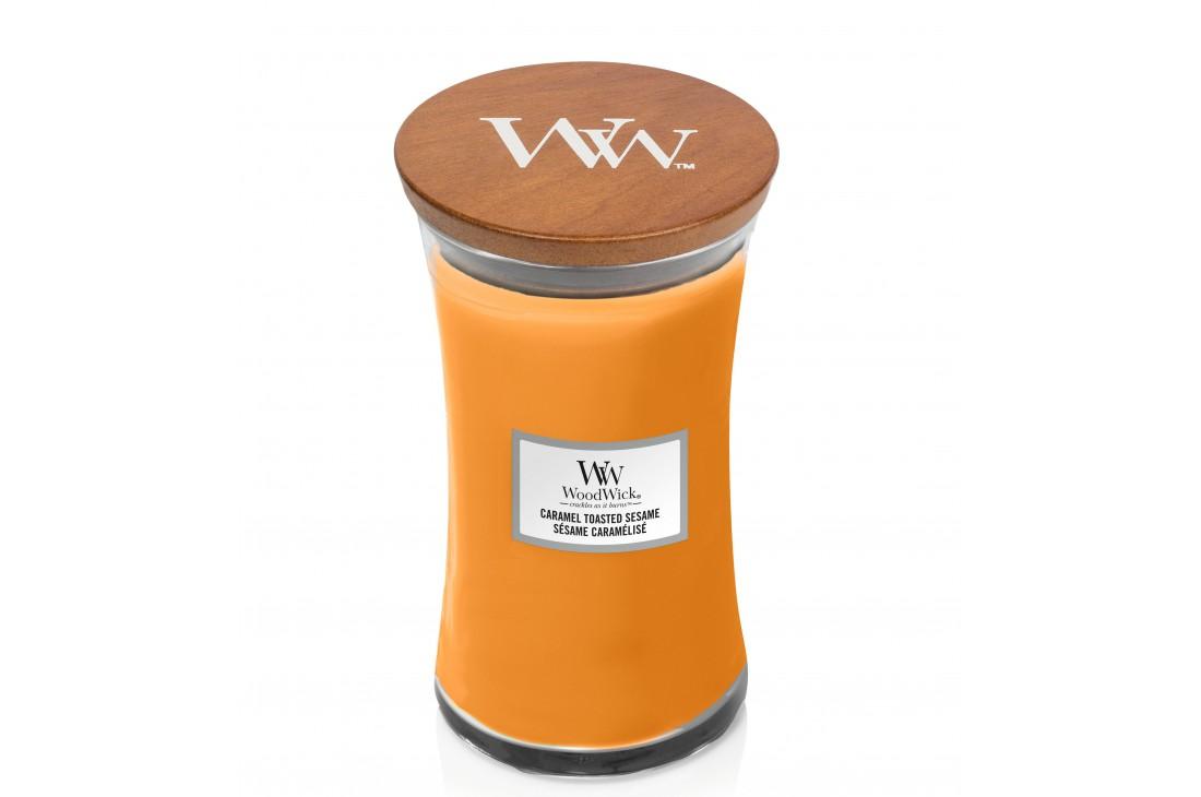WoodWick Caramel Toasted Sesame Świeca Zapachowa Duża