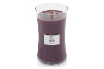 Woodwick Dark Poppy Świeca Zapachowa Duża