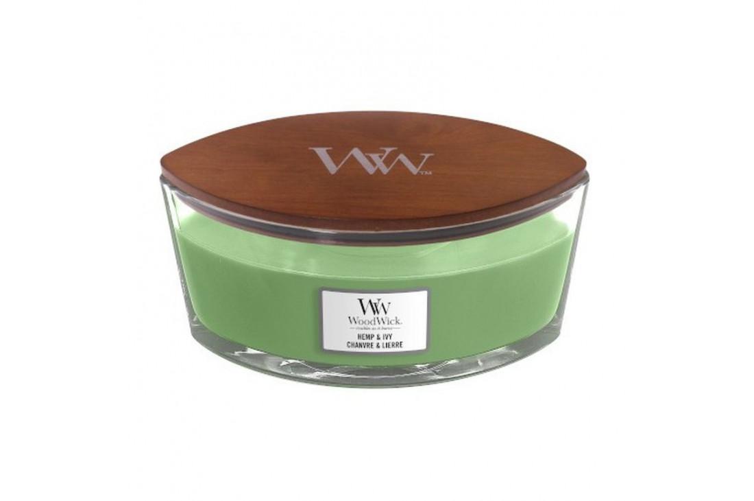 WoodWick Hemp & Ivy Świeca Zapachowa Elipsa