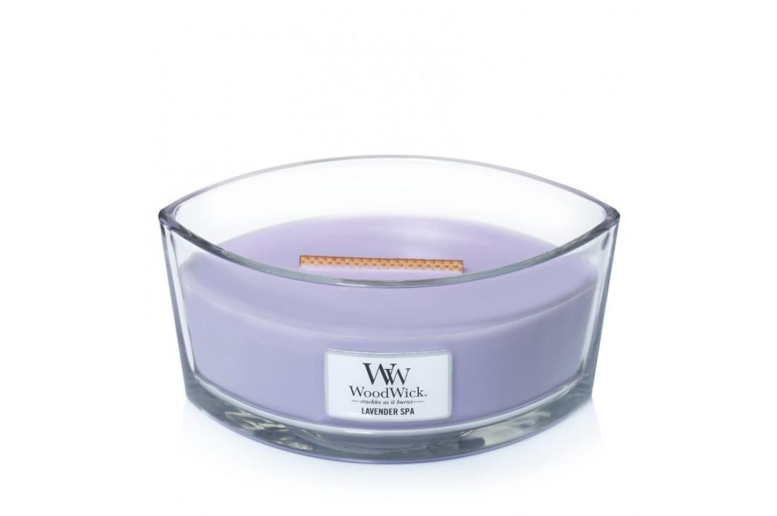 WoodWick Lavender Spa Świeca Zapachowa Elipsa