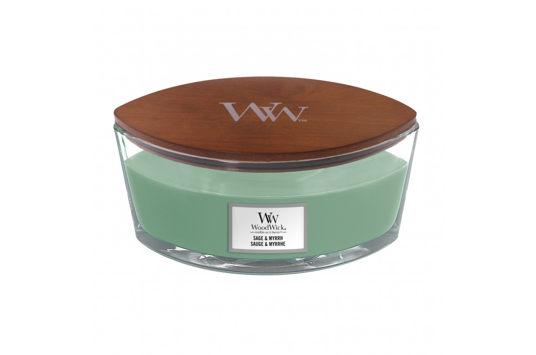 WoodWick Sage & Myrrh Świeca Zapachowa Elipsa