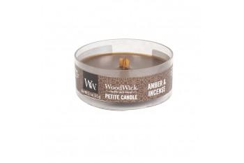 Woodwick Amber & Incense Świeca Petite