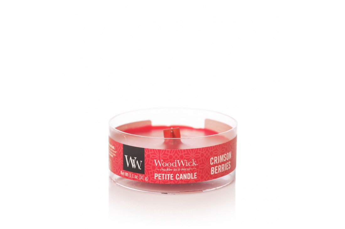 Woodwick Crimson Berries Świeca Petite