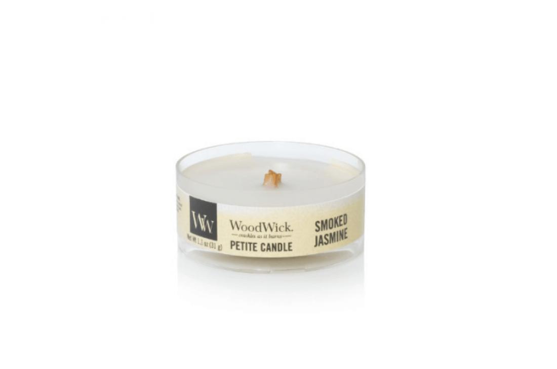 Woodwick Smoked Jasmine Świeca Petite
