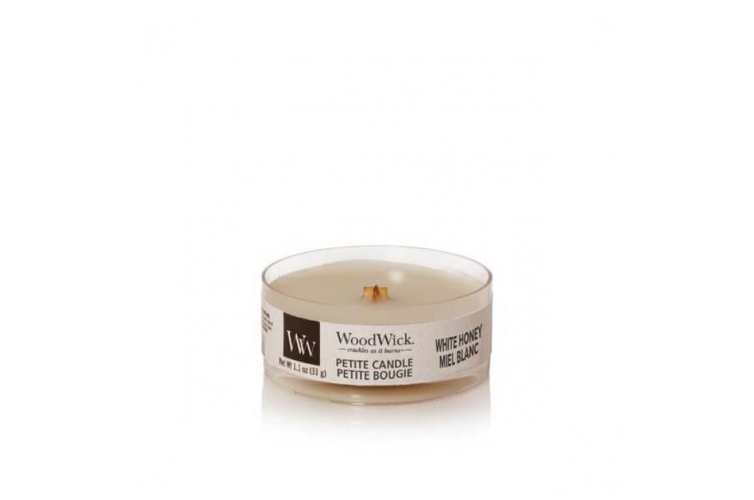 Woodwick White Honey Świeca Petite