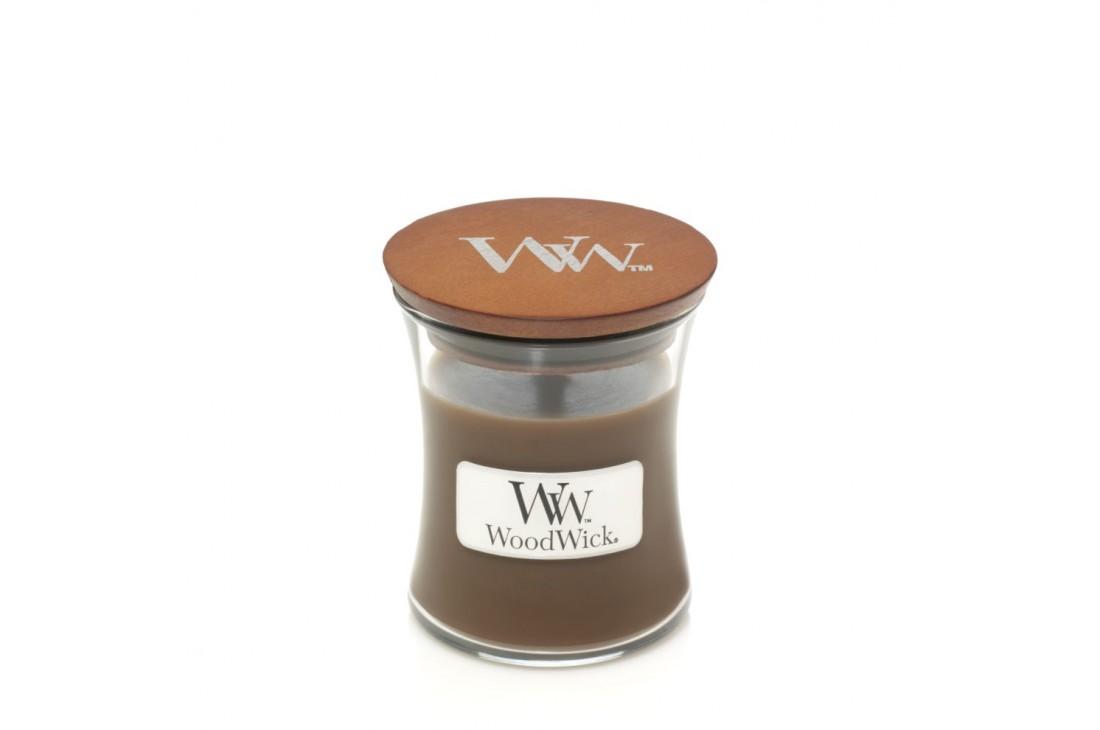 WoodWick Amber & Incense Świeca Zapachowa Średnia