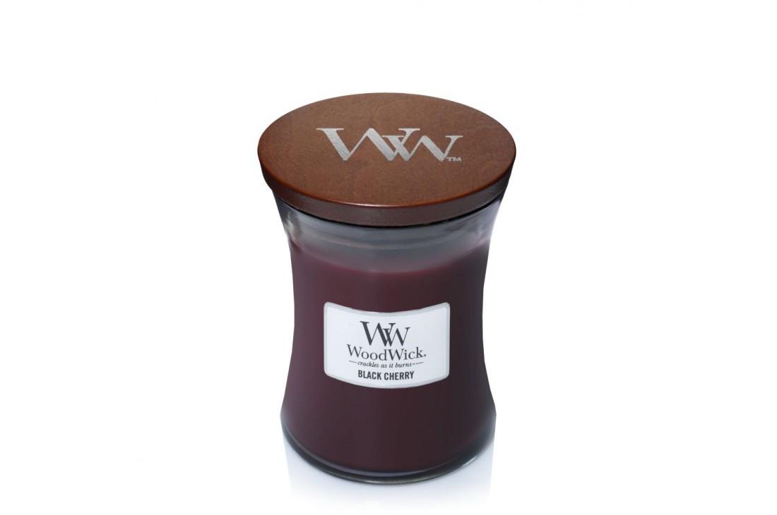 WoodWick Black Cherry (Świeca średnia)