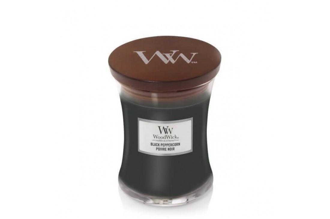 Woodwick Black Peppercorn Świeca Zapachowa Średnia