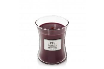 Woodwick Black Plum Cognac Świeca Zapachowa Średnia