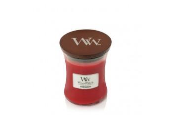 WoodWick Pomegranate Świeca Zapachowa Średnia