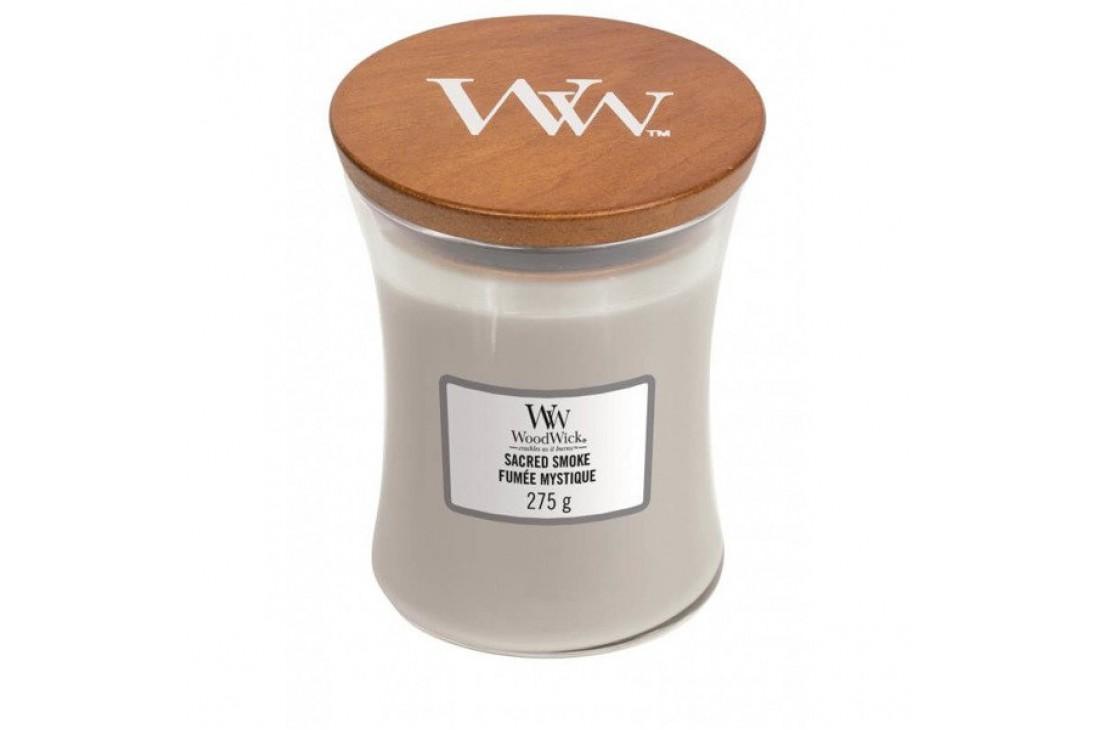 WoodWick Sacred Smoke Świeca Zapachowa Średnia