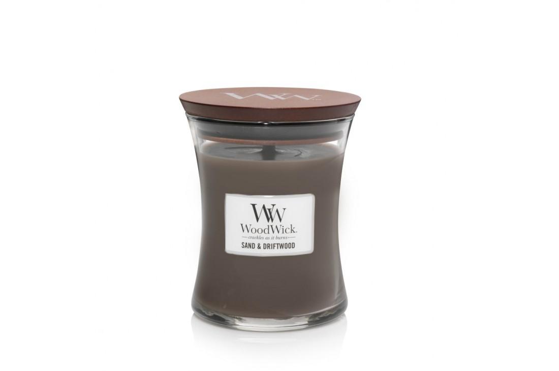 WoodWick Sand & Driftwood Świeca Zapachowa Średnia