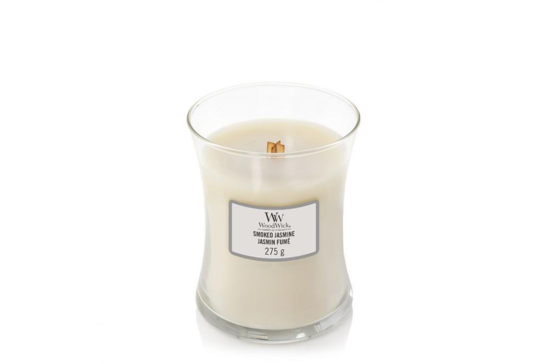 WoodWick Smoked Jasmine Świeca Zapachowa Średnia