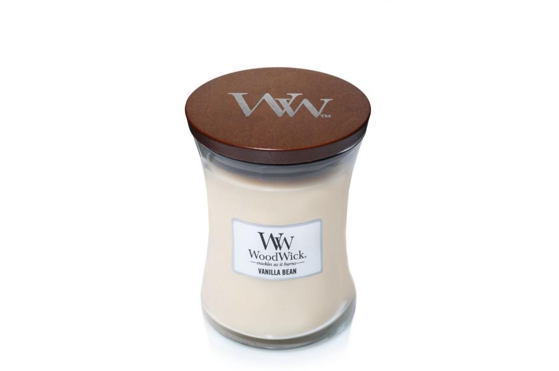 WoodWick Vanilla Bean Świeca Zapachowa Średnia