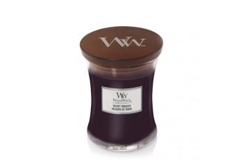 Woodwick Velvet Tobacco Świeca Zapachowa Średnia