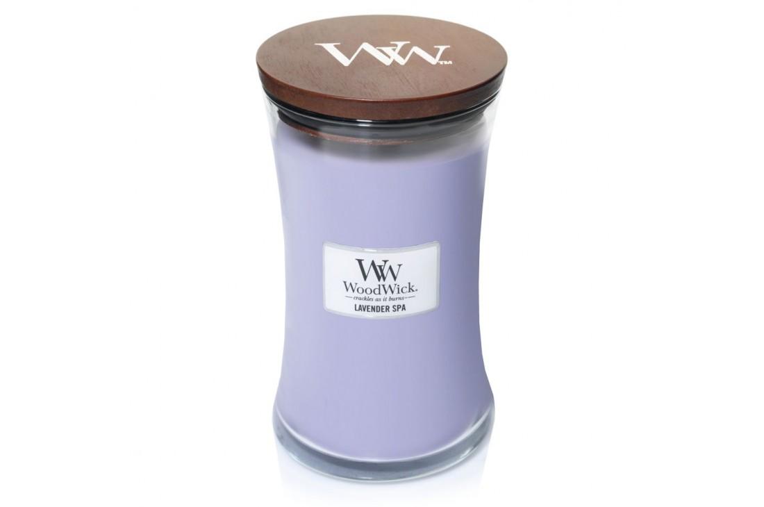 Woodwick Lavender Spa Świeca Zapachowa Duża