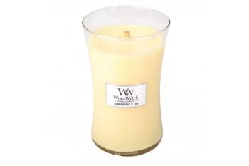WoodWick Lemongrass & Lily Świeca Zapachowa Duża