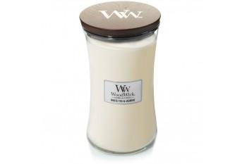 WoodWick White Tea & Jasmine Świeca Zapachowa Duża