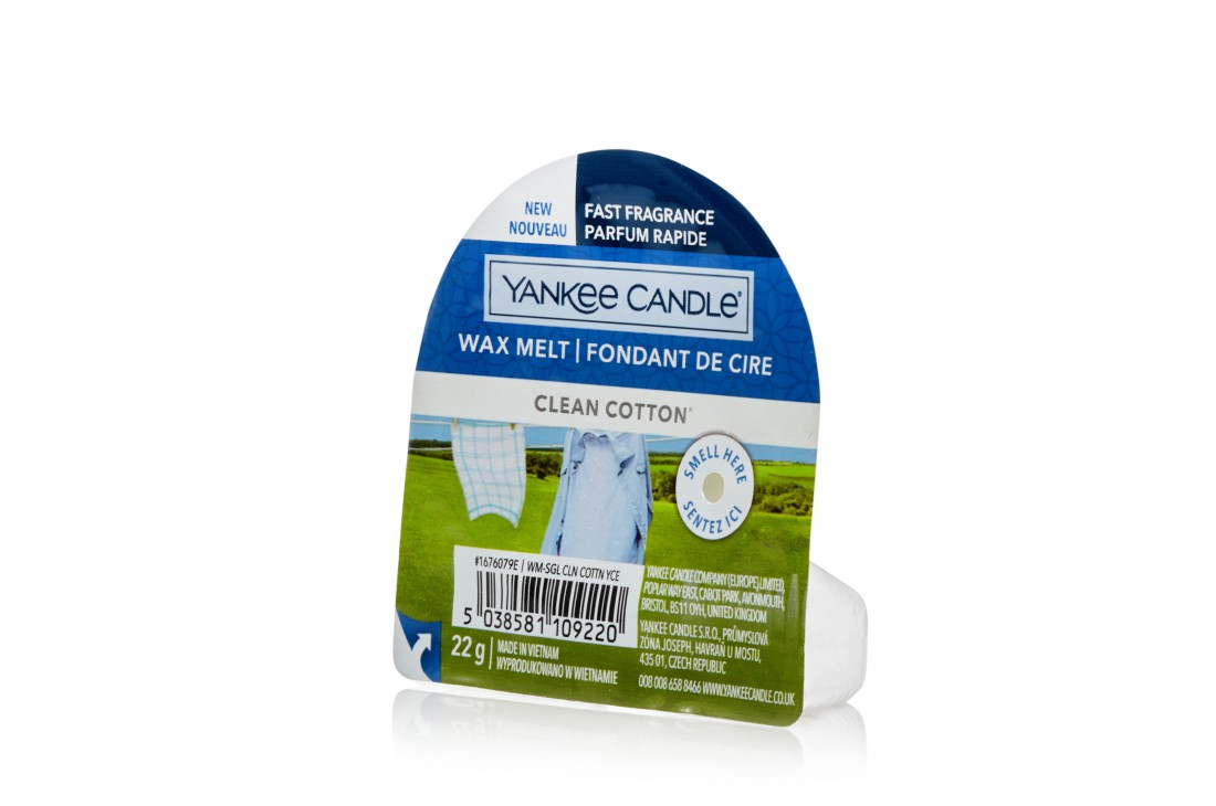 Yankee Candle Clean Cotton (Wosk zapachowy) NEW