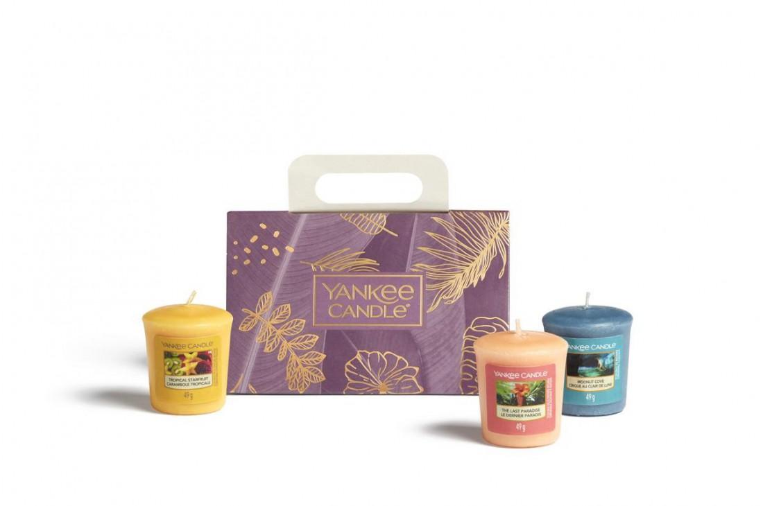 Yankee Candle The Last Paradise - Zestaw 3 świec typu votive
