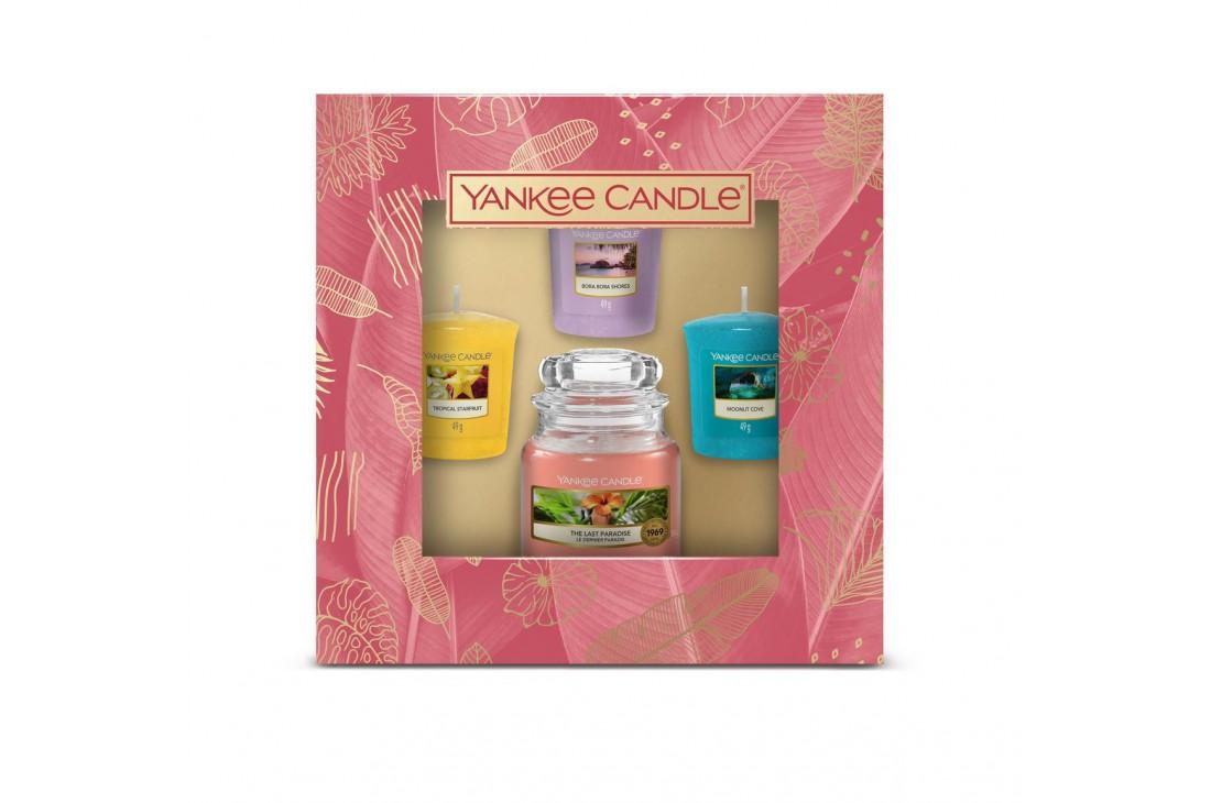 Yankee Candle The Last Paradise - Zestaw 3 świec typu votive i świeca mała